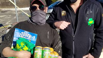 PHOTOS: Roger & JP and Long Ireland Beer Company's Chaos In A Can drive-thru event